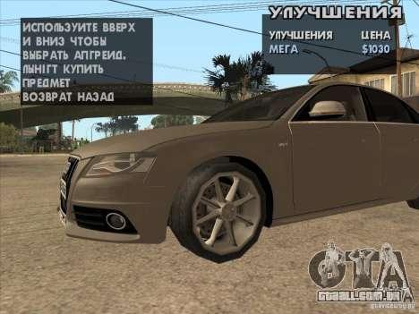 Ajuste a máquina em qualquer lugar para GTA San Andreas por diante tela
