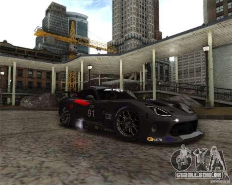 SRT Viper GTS-R V1.0 para GTA San Andreas traseira esquerda vista
