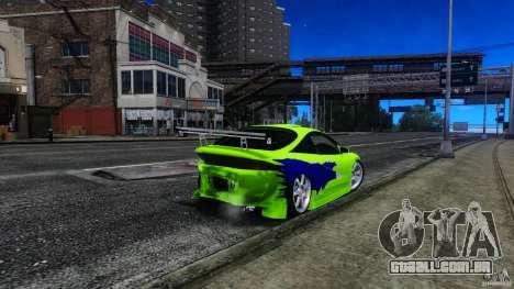 Mitsubishi Eclipse GSX FnF para GTA 4 vista lateral