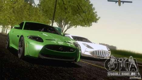 Jaguar XKR-S 2011 V1.0 para vista lateral GTA San Andreas