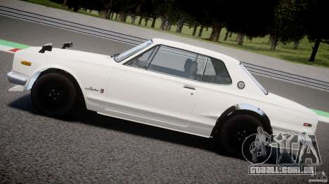 Nissan Skyline 2000 GT-R para GTA 4 vista inferior