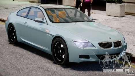 BMW M6 G-Power Hurricane para GTA 4 vista interior