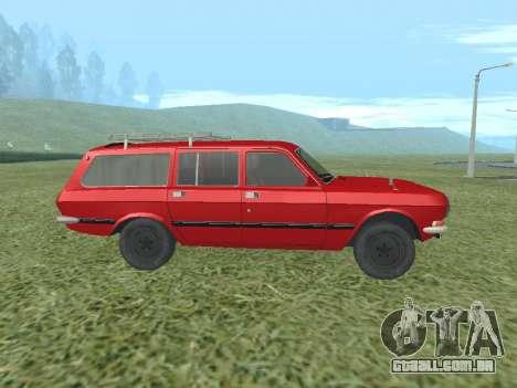 Volga GAZ-24-02 para GTA San Andreas traseira esquerda vista