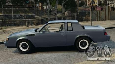 Buick GNX 1987 para GTA 4 esquerda vista