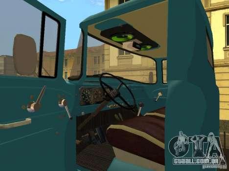 ZIL 130 a bordo para GTA San Andreas vista traseira