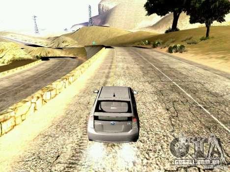 Toyota Prius Hybrid 2011 para GTA San Andreas vista direita