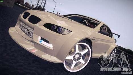 BMW M3 E92 Tuned para GTA San Andreas traseira esquerda vista