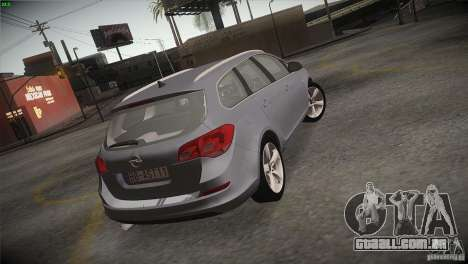 Opel Astra 2010 para vista lateral GTA San Andreas