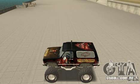 Chevrolet Blazer K5 Monster Skin 4 para GTA San Andreas