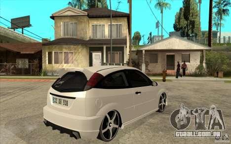 Ford Focus Coupe Tuning para GTA San Andreas vista direita