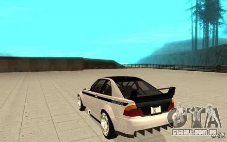 GTA IV Sultan RS FINAL para GTA San Andreas traseira esquerda vista