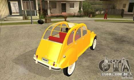 Citroen 2CV para GTA San Andreas vista direita