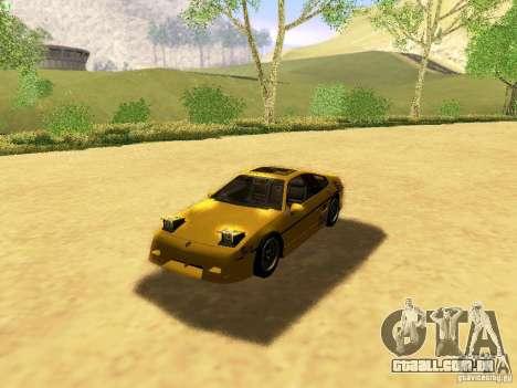 Pontiac Fiero V8 para GTA San Andreas vista inferior