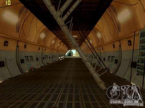 Lockheed C-5M Galaxy para GTA San Andreas vista direita