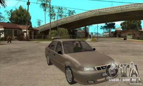 Daewoo Nexia Dohc 2009 para GTA San Andreas vista traseira