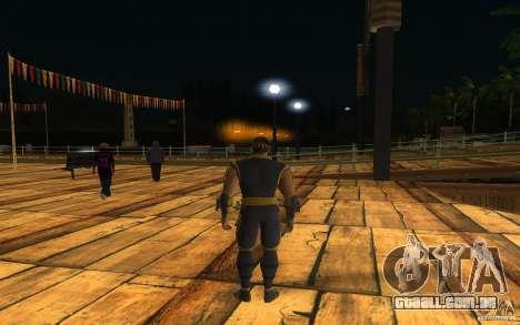 Cyrax de Mortal kombat 9 para GTA San Andreas segunda tela