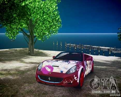 Ferrari California DC Texture para GTA 4 vista de volta