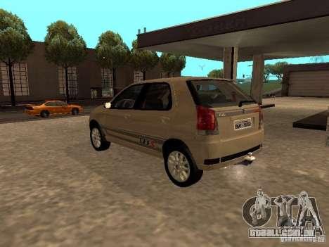 Fiat Palio 1.8R para GTA San Andreas esquerda vista