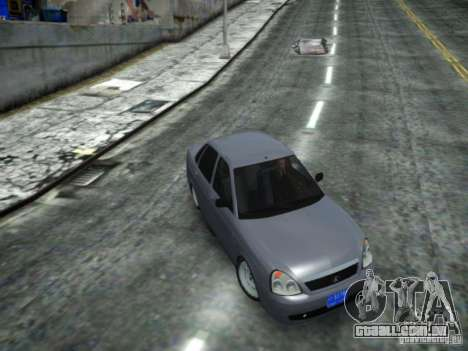 LADA 2170 DUBAI para GTA 4 traseira esquerda vista