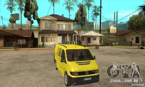Mercedes-Benz Vito 112CDI para GTA San Andreas vista traseira