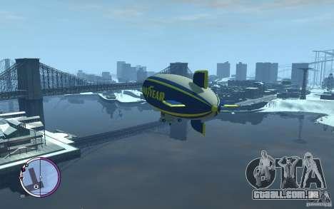 Dirigível para GTA 4 traseira esquerda vista