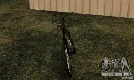 Bicicleta com Monster Energy para GTA San Andreas traseira esquerda vista