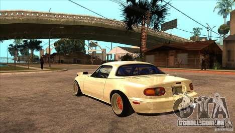 Mazda Miata JDM para GTA San Andreas traseira esquerda vista