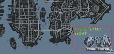Desert Rally+Boat para GTA 4 sétima tela