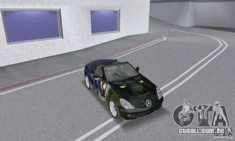 Mercedes-Benz SLK 350 para GTA San Andreas vista superior
