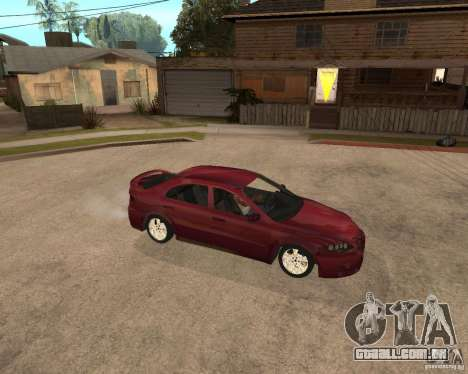 Mazda 6 Sport para GTA San Andreas vista traseira