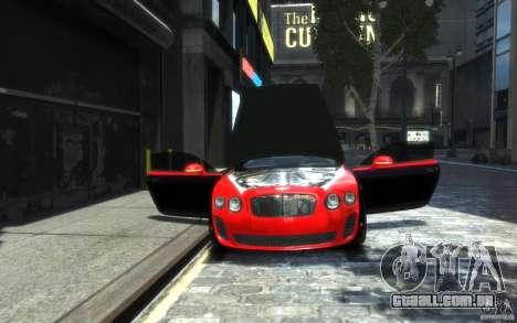 Bentley Continental SS MansorY para GTA 4 interior