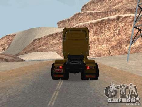 Scania R440 para GTA San Andreas traseira esquerda vista