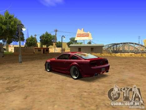 Ford Mustang GT 2005 Tuned para GTA San Andreas vista direita