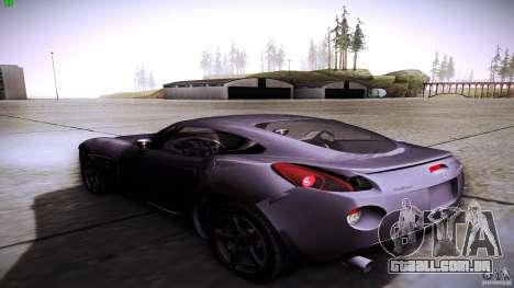Pontiac Solstice para GTA San Andreas traseira esquerda vista