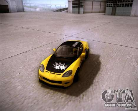 Chevrolet Corvette C6 super promotion para GTA San Andreas vista traseira