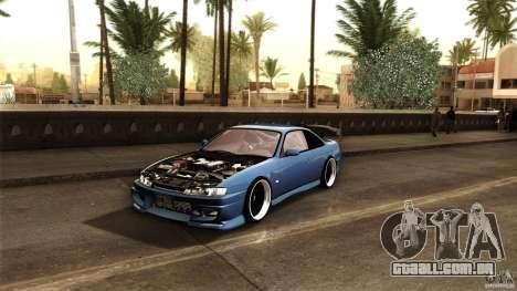 Nissan 200sx para GTA San Andreas vista traseira