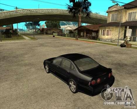 2003 Chevrolet Impala SS para GTA San Andreas esquerda vista