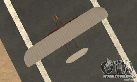 The Wright Flyer para GTA San Andreas vista direita