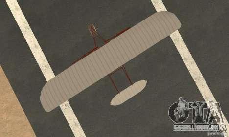 The Wright Flyer para GTA San Andreas vista direita