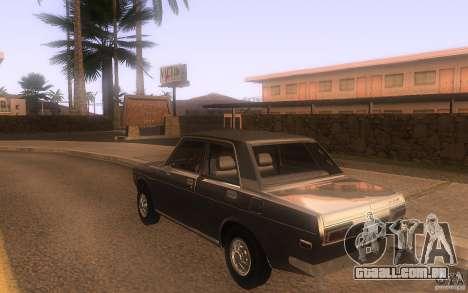 Datsun 510 4doors para GTA San Andreas traseira esquerda vista