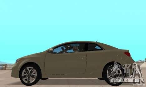 Kia Forte Koup 2010 para GTA San Andreas traseira esquerda vista