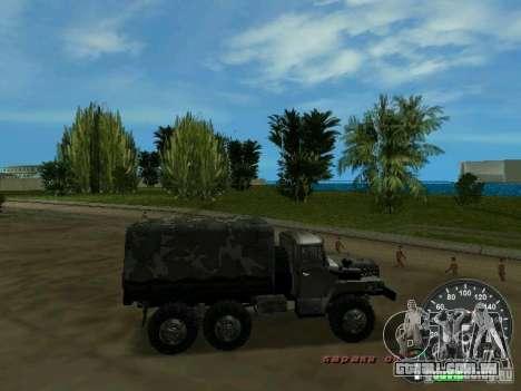 Ural 4320 militar para GTA Vice City vista interior