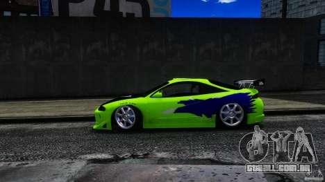 Mitsubishi Eclipse GSX FnF para GTA 4 traseira esquerda vista