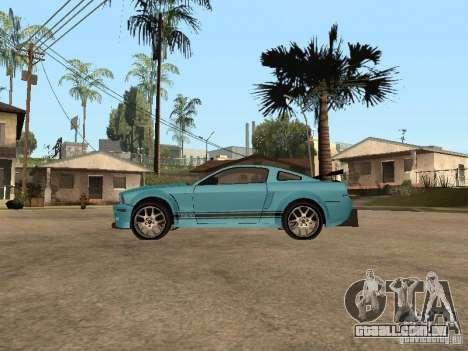 Ford Mustang GT 500 para GTA San Andreas esquerda vista
