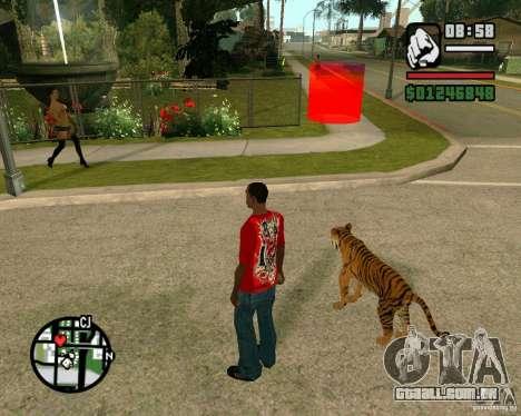 Tigre no GTA San Andreas para GTA San Andreas terceira tela
