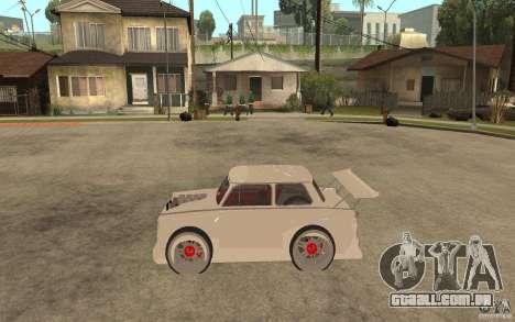 Trabant 601 Hardcore Tuning para GTA San Andreas esquerda vista