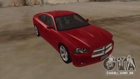 Dodge Charger RT 2011 V1.0 para GTA San Andreas vista direita