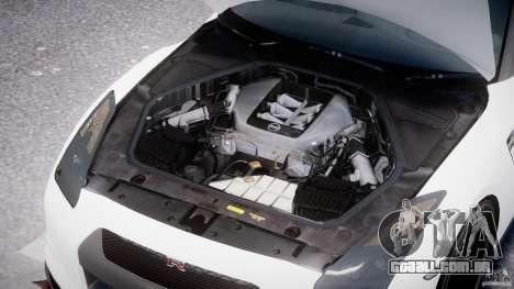 Nissan GTR R35 SpecV v1.0 para GTA 4 vista inferior
