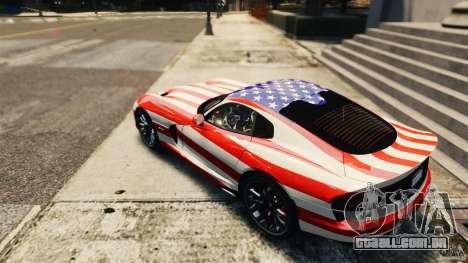 Dodge Viper GTS 2013 para GTA 4 vista direita