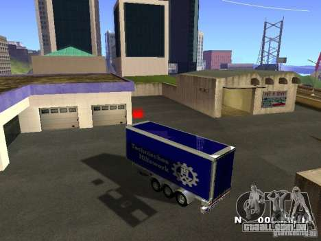 Trailer de Iveco Stralis para GTA San Andreas vista direita